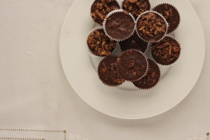 salted choc nut cups
