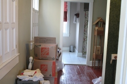 Sewing area. Looking towards the absurd wast of space that is the upstairs bath. Turn to the right and you see...